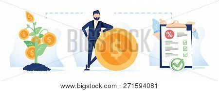 Funding Sources Concept Icon. Financial Management Idea Financial Illustration. Budget Planning. Bus