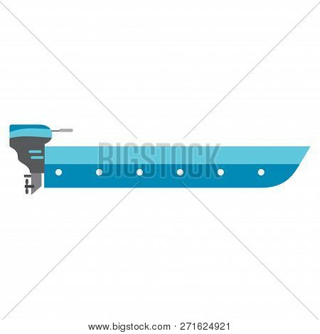 Motorboat Vector. Water. Motorboat Logo. Vector Illustration. Eps 10.
