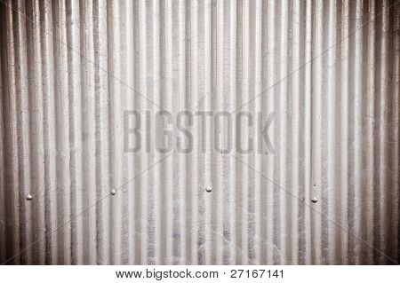old corrugated metal steel