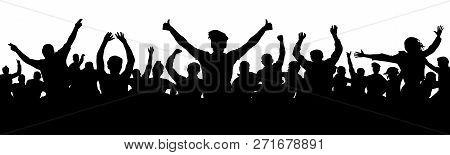 Cheerful People Having Fun Celebrating. Thumb Up, Ok. Group Of Friends, Youth. Crowd Of Fun People O