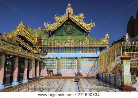 Sagaing, Myanmar - December 08, 2016: Soon Oo Pon Nya Shin Pagoda, Sagaing,myanmar (burma)