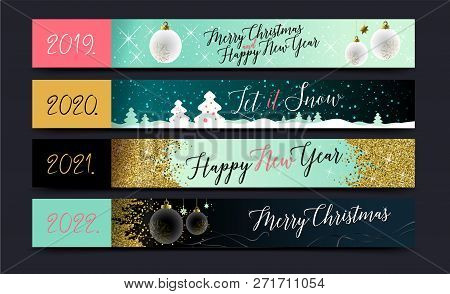 New Year 2019. Happy New Year Background For Seasonal Flyers And Greetings Card Or Christmas Themed