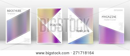 Flyer Layout. Triangle Uncommon Template For Brochure, Annual Report, Magazine, Poster, Corporate Pr