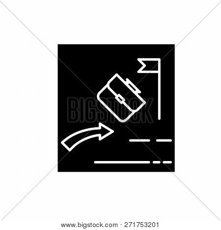 Passive Investing Black Icon, Vector Sign On Isolated Background. Passive Investing Concept Symbol,