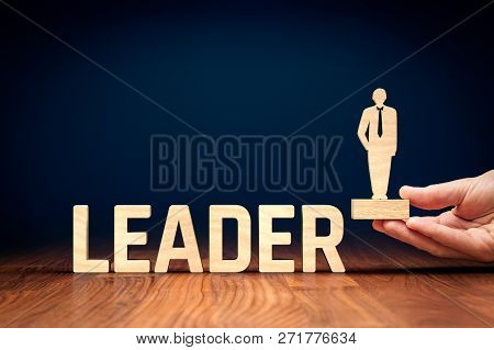 Successful Team Leader (manager, Ceo, Market Leader) And Another Business Leadership Concepts.