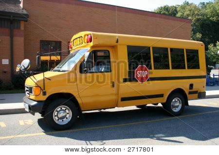 Small Yellow School Van, Bus