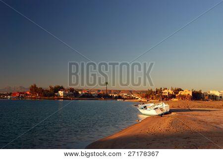 la bahía en El-Gouna, Egipto