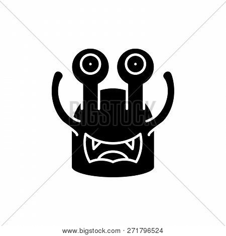 Toothy Cast Black Icon, Vector Sign On Isolated Background. Toothy Cast Concept Symbol, Illustration