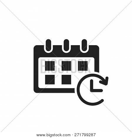 Calendar Vector Icon. Reminder Agenda Sign Illustration. Busines