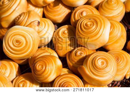 Dairy Product, Smoked Cheese Spirals, Called Parenyica.