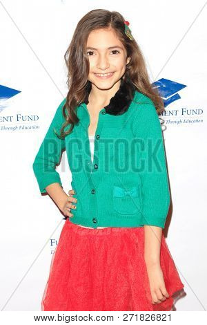 LOS ANGELES - DEC 1: Lily Rose Silver at the Fulfillment Fund's 45th Annual Holiday Party for kids at CBS Television City on December 1, 2017 in Los Angeles, California