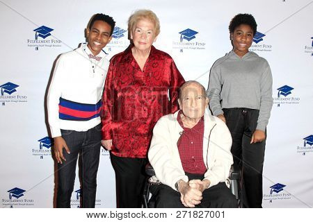 LOS ANGELES - DEC 1: Phillip Solomon, Cherna Gitnick, Dr Gary Gitnick, Lyric Ross at the Fulfillment Fund's 45th Holiday Party for kids at CBS Television City on December 1, 2017 in Los Angeles, CA