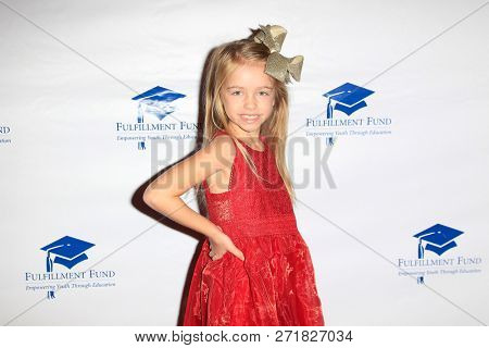 LOS ANGELES - DEC 1: Kingston Foster at the Fulfillment Fund's 45th Annual Holiday Party for kids at CBS Television City on December 1, 2017 in Los Angeles, California