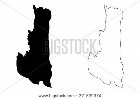 Chin State (administrative Divisions Of Myanmar, Republic Of The Union Of Myanmar, Burma) Map Vector