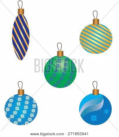 Christmas Tree Toys. Vector Illustration It Is Maybe Used For Any Professional Project