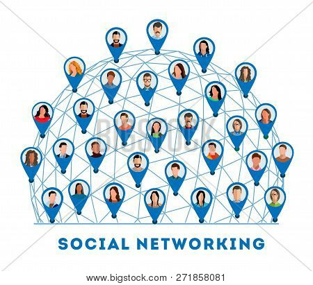 Social Networking. Connected People And Social Network. Creative Social Networking People. Social Ne
