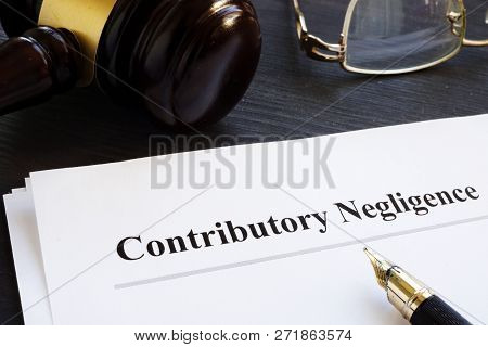 Documents About Contributory Negligence In A Court.