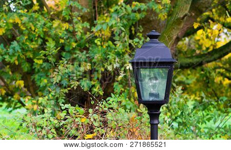 Unlit Modern Lamppost A Decorative Classical Garden Lantern For In The Backyard