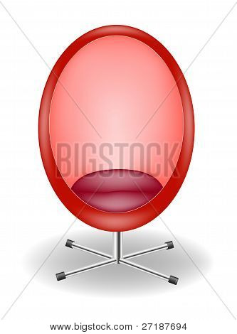 Retro red egg chair