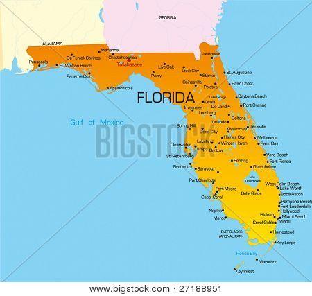 Florida Map Images Illustrations Vectors Florida Map Stock - Mapa de la florida usa