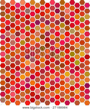 Vector illustration of color honeycomb ornament