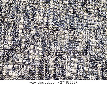 Weaved Texture Of A Material. Linen Natural Grey Fabric, Square Pattern, Close Up. Silk Pattern. Cot
