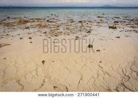 Beach Near Krabi, Thailand, Sunny Beach, Rocks, Sand, Azure Water, Sea, Islands In The Background