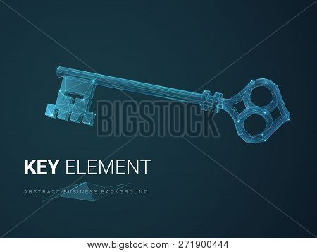 Abstract Modern Business Background Vector Depicting Importance With Stars And Lines In Shape Of A K
