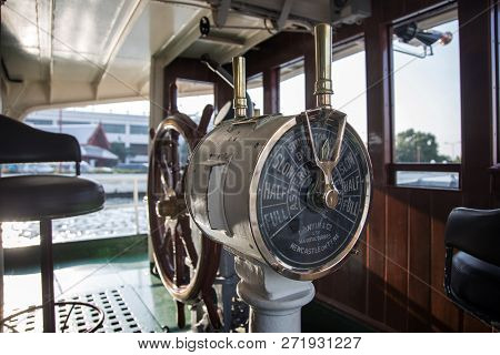 Old Ordering Control Signal To Engine Room Of Boat For Boating