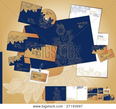 Vector template of identity set.