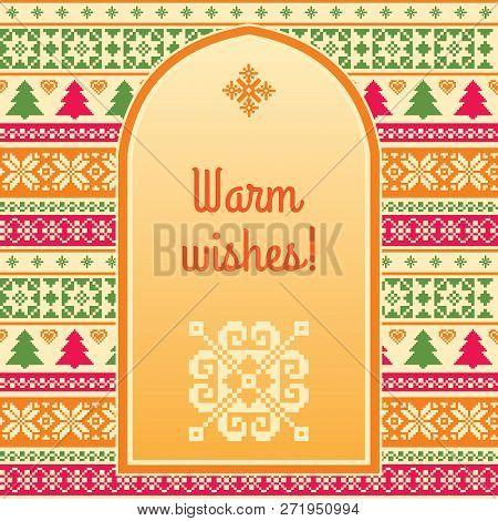 Warm Wishes Christmas Background