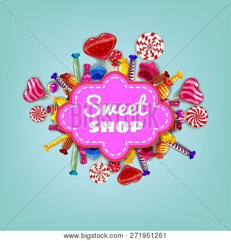 Sweet Shop Candy Template Set Of Different Colors Of Candy, Candy, Sweets, Chocolate Candy, Jelly Be