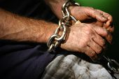 Chained person. poster