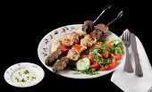 Lebanese cuisine. Clipping path included. poster