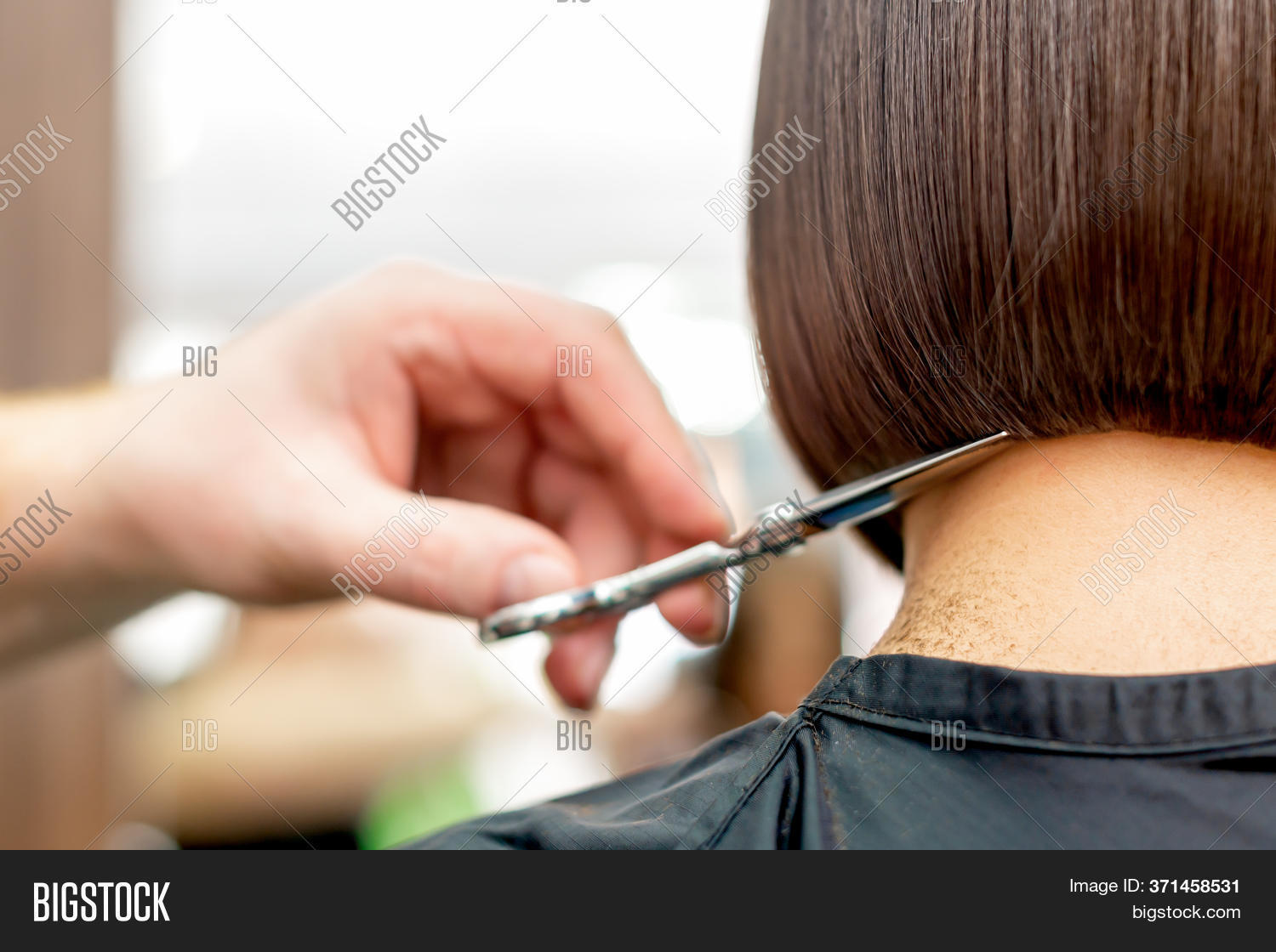 Back View Hairdresser Image Photo Free Trial Bigstock