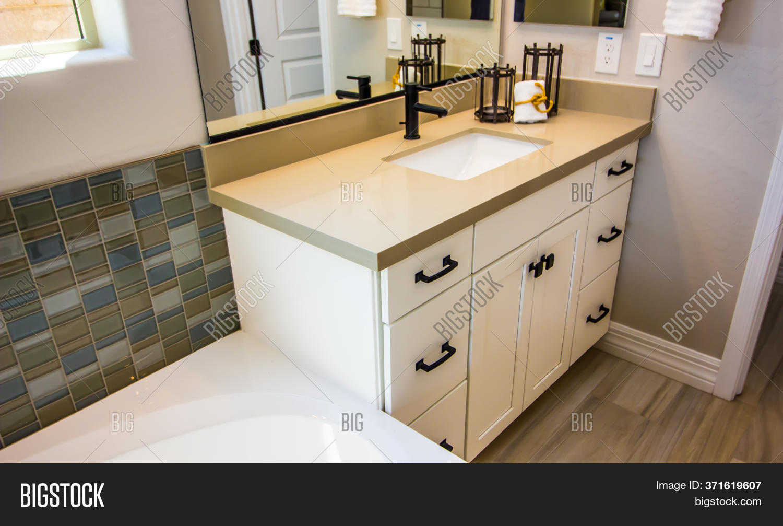 Modern Corner Bathroom Image Photo Free Trial Bigstock