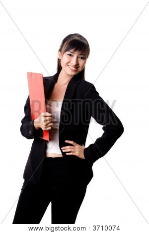 Businesswoman With A Red File
