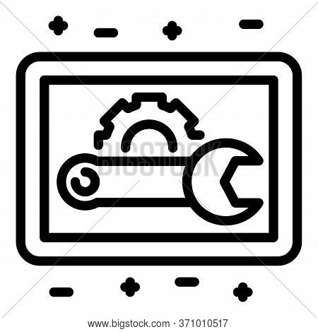 Maintenance Service Icon. Outline Maintenance Service Vector Icon For Web Design Isolated On White B