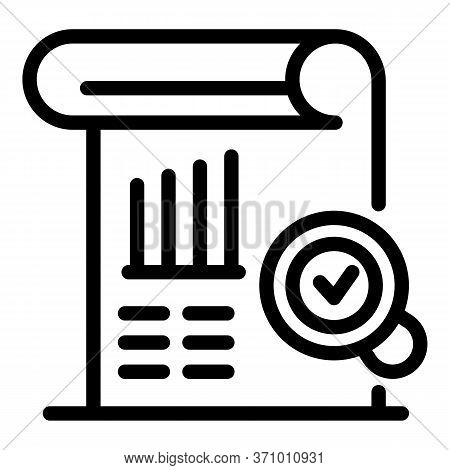 Target Plan Done Icon. Outline Target Plan Done Vector Icon For Web Design Isolated On White Backgro