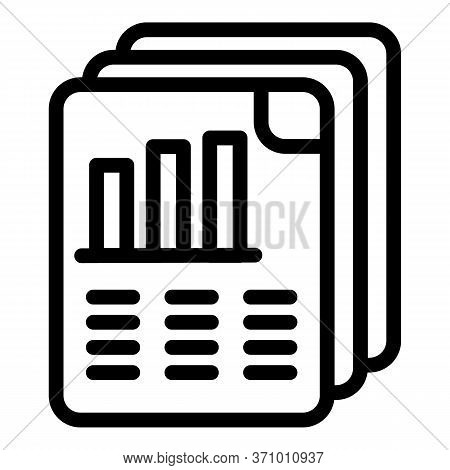 Evolutions Report Icon. Outline Evolutions Report Vector Icon For Web Design Isolated On White Backg
