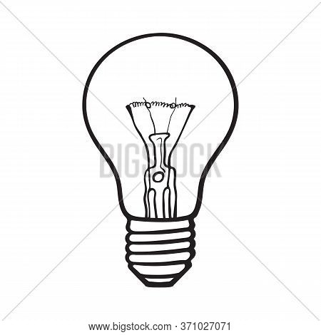Light Bulb. Idea Concept. Vector Illustration Isolated On White Background.