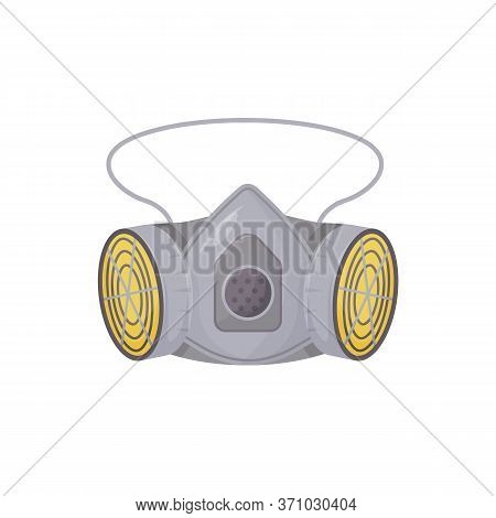 Powered Air-purifying Respirator Cartoon Vector Illustration. Personal Protective Equipment, Breathi