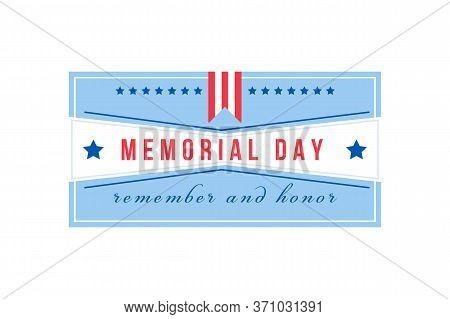 National Memorial Day Flat Color Vector Badge. American Liberty Event. National United States Holida
