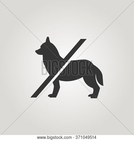 No Dogs Sign. Dog Not Allowed Icon. No Pets Badge. Keep Your Animal Outside. Unique Design Business