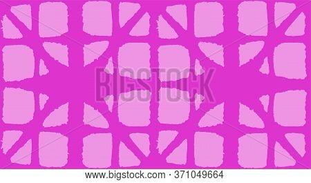 Japanese Tie Dye Seamless Pattern. Premium Japanese Clothes Print. Boho Curve Shell Pattern Bohemian