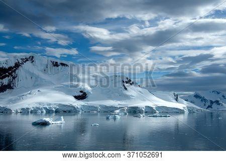 Extreme Terrain Of The Glaciers On Antarctica.
