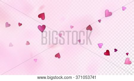 Flying Hearts Vector Confetti. Valentines Day Wedding Pattern. Rich Vip Gift, Birthday Card, Poster