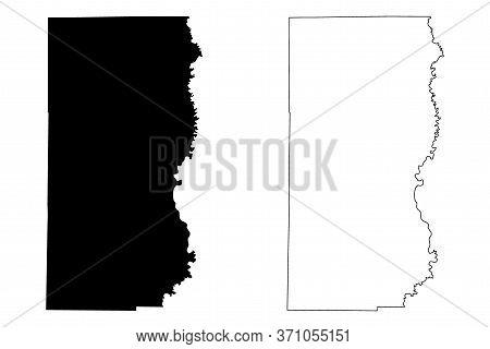 Edwards County, Illinois (u.s. County, United States Of America, Usa, U.s., Us) Map Vector Illustrat