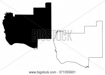 Jersey County, Illinois (u.s. County, United States Of America, Usa, U.s., Us) Map Vector Illustrati