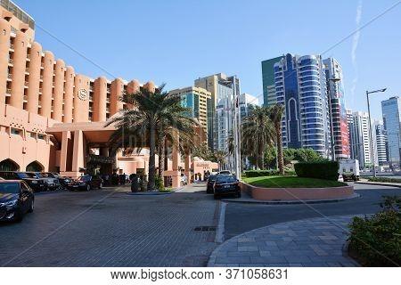 Abu Dhabi, United Arab Emirates - December 4, 2016: Sheraton Abu Dhabi Hotel And Resort Is A 5-star